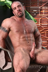 cayden clark ripped muscle bodybuilder strips naked and strokes his