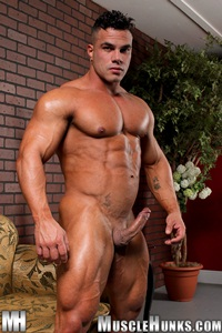 ... -Strips-Naked-and-Strokes-His-Big-Hard-Cock-for-at-Muscle-Hunks-photo