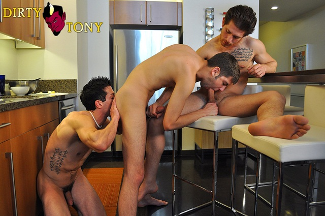 Bradley Rose Max Morgan and Dominic in flirty threesome fuck at Dirty Tony3 Young nude Boy Twink Strips Naked and Strokes His Big Hard Cock photo1 Bradley Rose, Max Morgan and Dominic in flirty threesome fuck at Dirty Tony