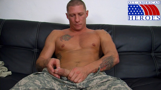 Real man in uniform Private Tyler with his FleshJack at All American Heroes 1 Ripped Muscle Bodybuilder Strips Naked and Strokes His Big Hard Cock photo image1 Real man in uniform Private Tyler with his Fleshjack at All American Heroes