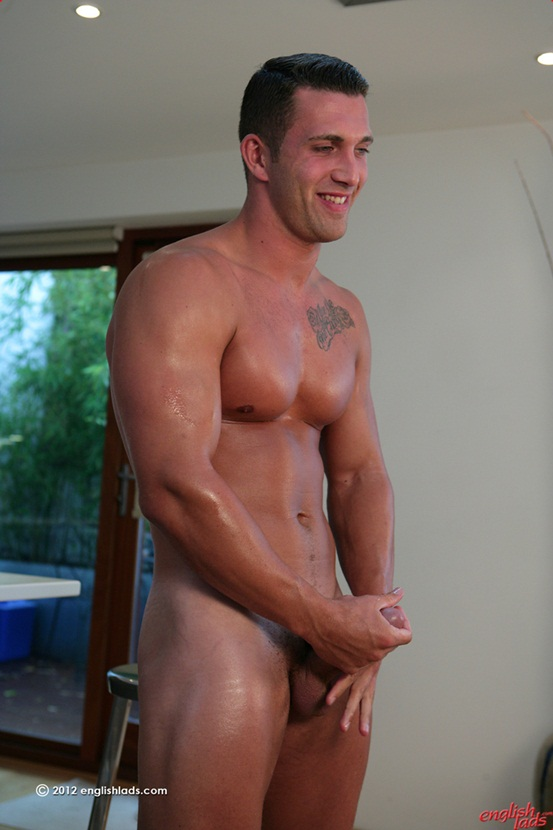 Personal trainer James Branson Tall muscular tanned ripped hung 07 Ripped Muscle Bodybuilder Strips Naked and Strokes His Big Hard Cock photo Straight personal trainer James Branson   Tall muscular tanned ripped & hung