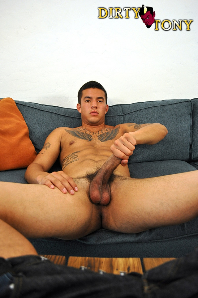 Horny black dude jerks off dick 5