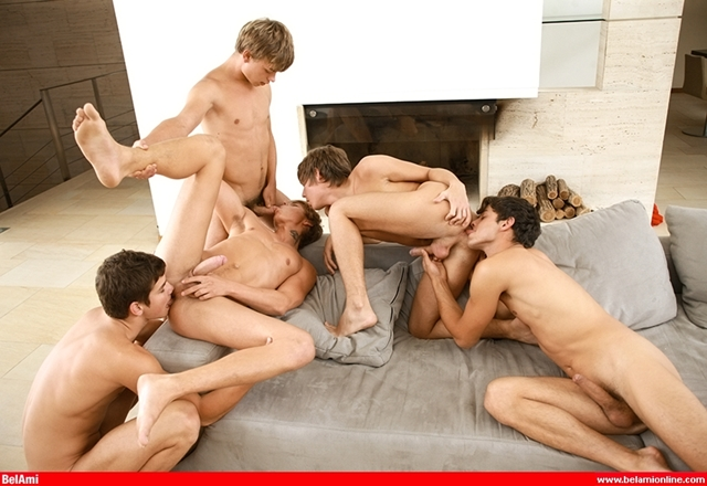 Bareback fucking twinks Belami's Kinky Angels in Scandal at the Vatican - Gay Orgy