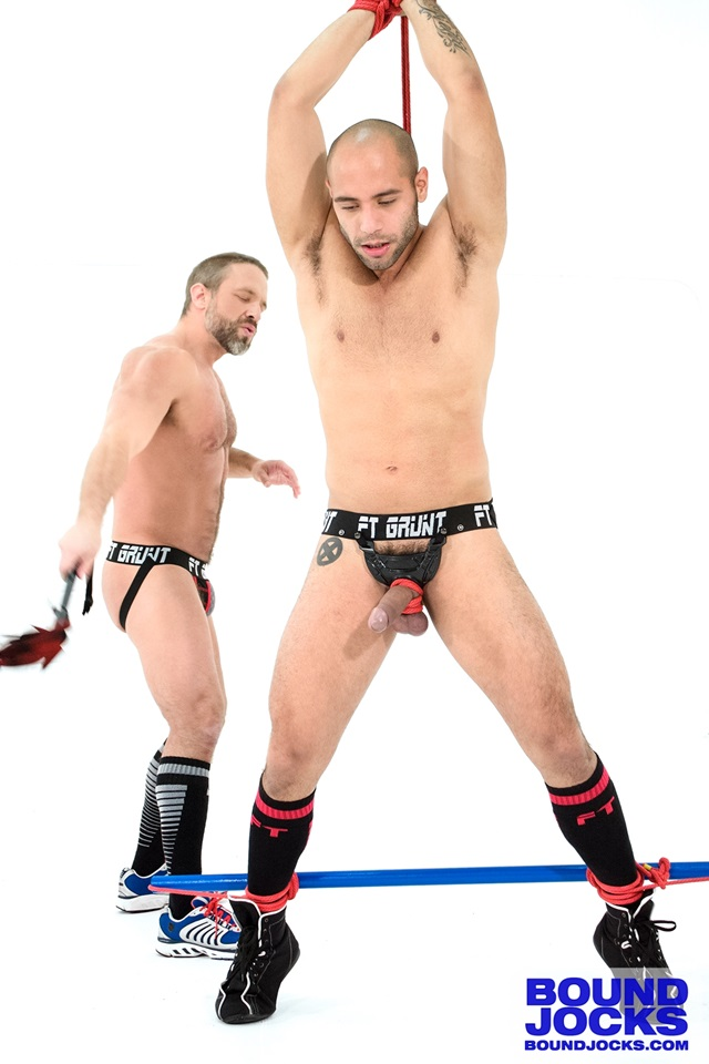bound jocks Dirk Caber and Leo Forte