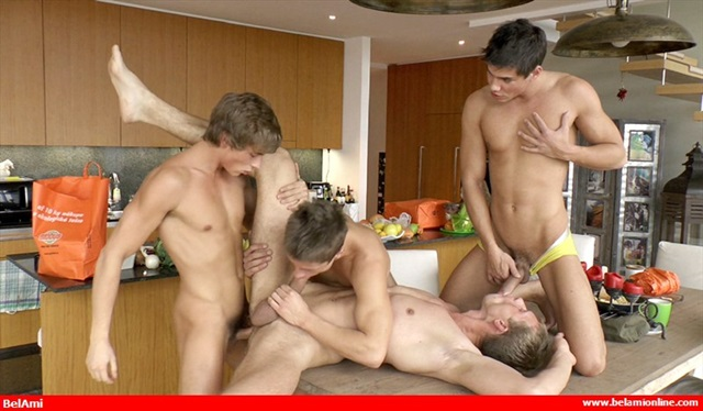 Horny gay threesome with Cole Christiansen, Zach Taylor fucking Johnny Torque
