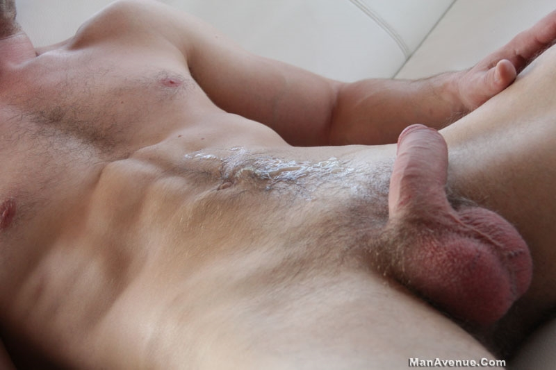 man avenue  Corrin Sanchez jerks his huge uncut dick