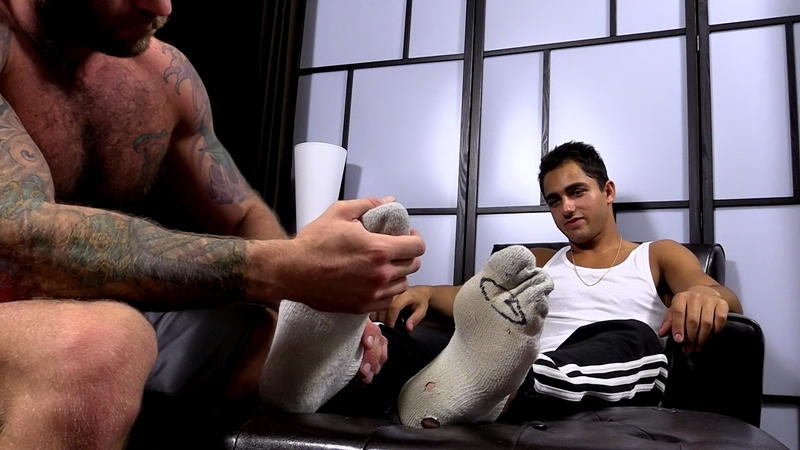 my friends feet  Drake Jaden worships Azifs size 11 bare feet