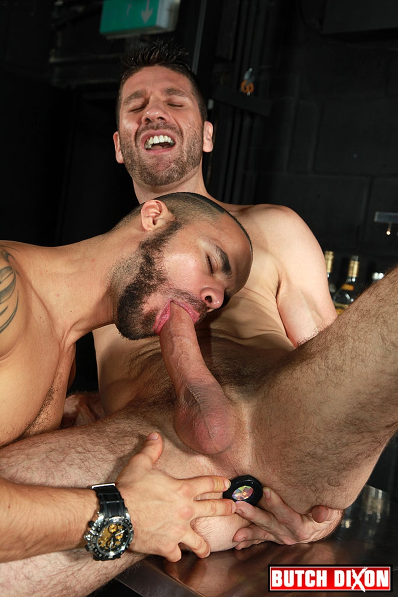 Spunk Worthy self-employed handyman Dominic jerks his cock spewing out a huge cumload