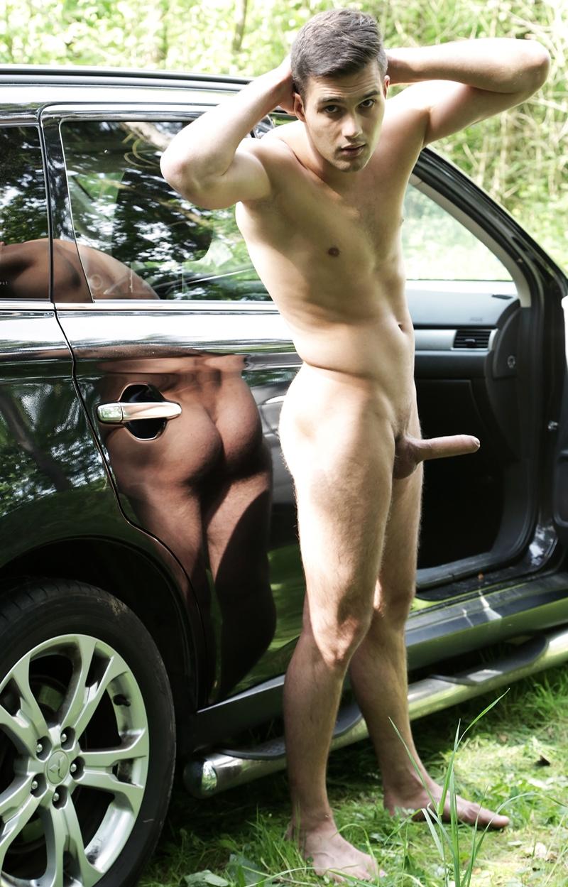 Spunk Worthy Laird's big cock massage ends in a huge cum explosion
