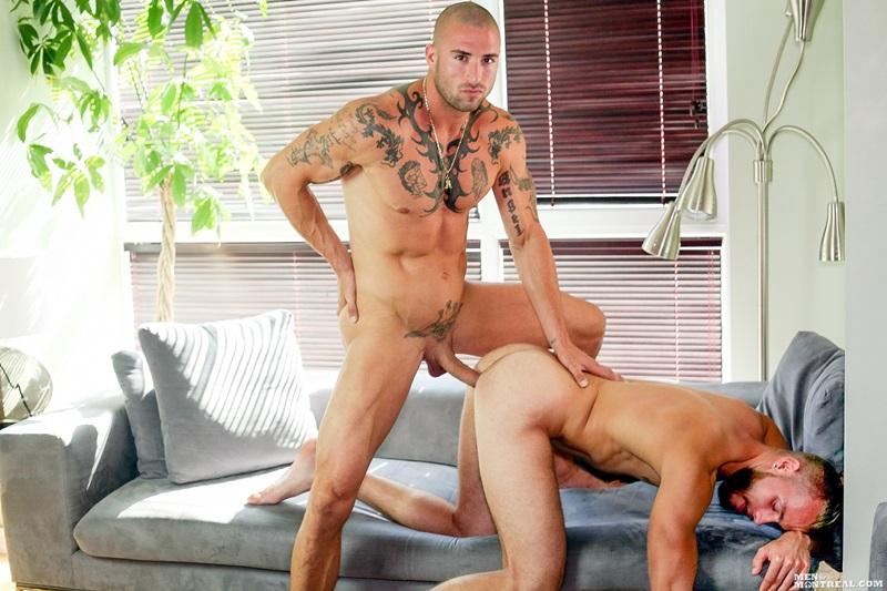 MenofMontreal-nude-men-Kyle-Champagne-Derek-Thibeau-missionary-top-man-dildo-tattooed-dude-bottom-boy-ass-fuck-fat-9-inch-dick-wad-cum-13-gay-porn-star-sex-video-gallery-photo