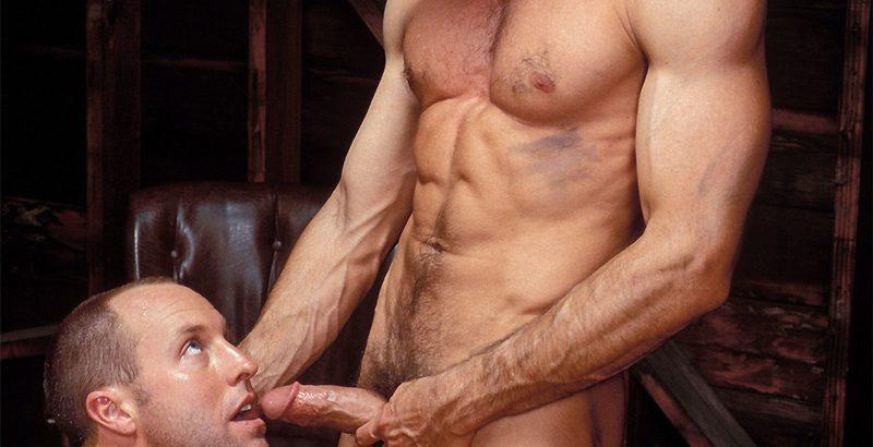 Sexy Brazilian papi Gustavo aka Mack's huge uncut cock bareback fucking hot Latino Henry