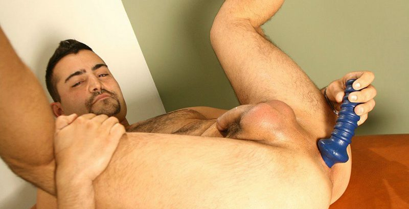 Markie More pulls out Allen Lucas' big hard dick and sucks him to the base