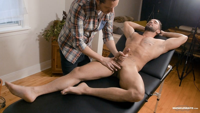 Pascal worships Zack Lemec's gorgeous ripped body as he jerks out a huge long lasting cumshot