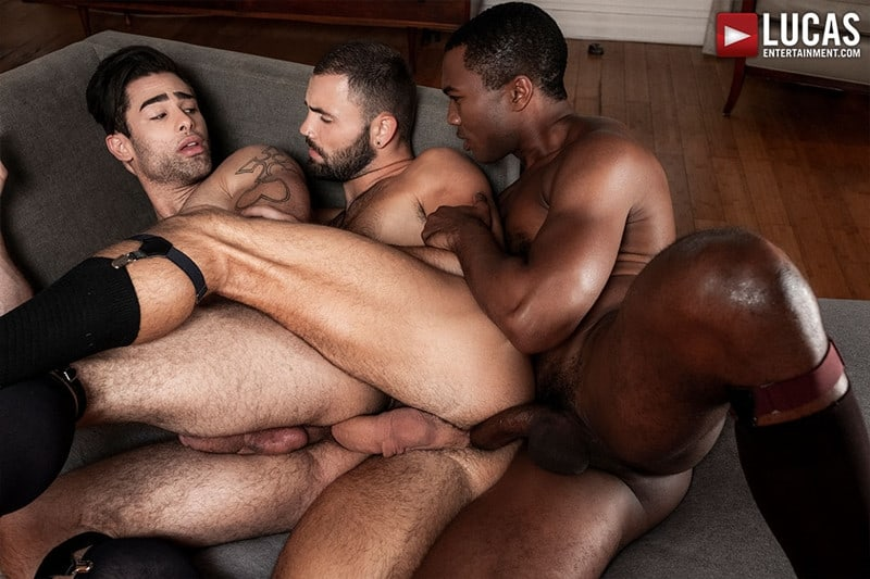 Men for Men Blog Sean-Xavier-Lucas-Leon-Jeffrey-Lloyd-Interracial-anal-fuck-suck-fest-big-cock-LucasEntertainment-016-gay-porn-pictures-gallery Interracial anal fuck and suck fest Sean Xavier and Lucas Leon persuade Jeffrey Lloyd to get his big beautiful cock out Lucas Entertainment