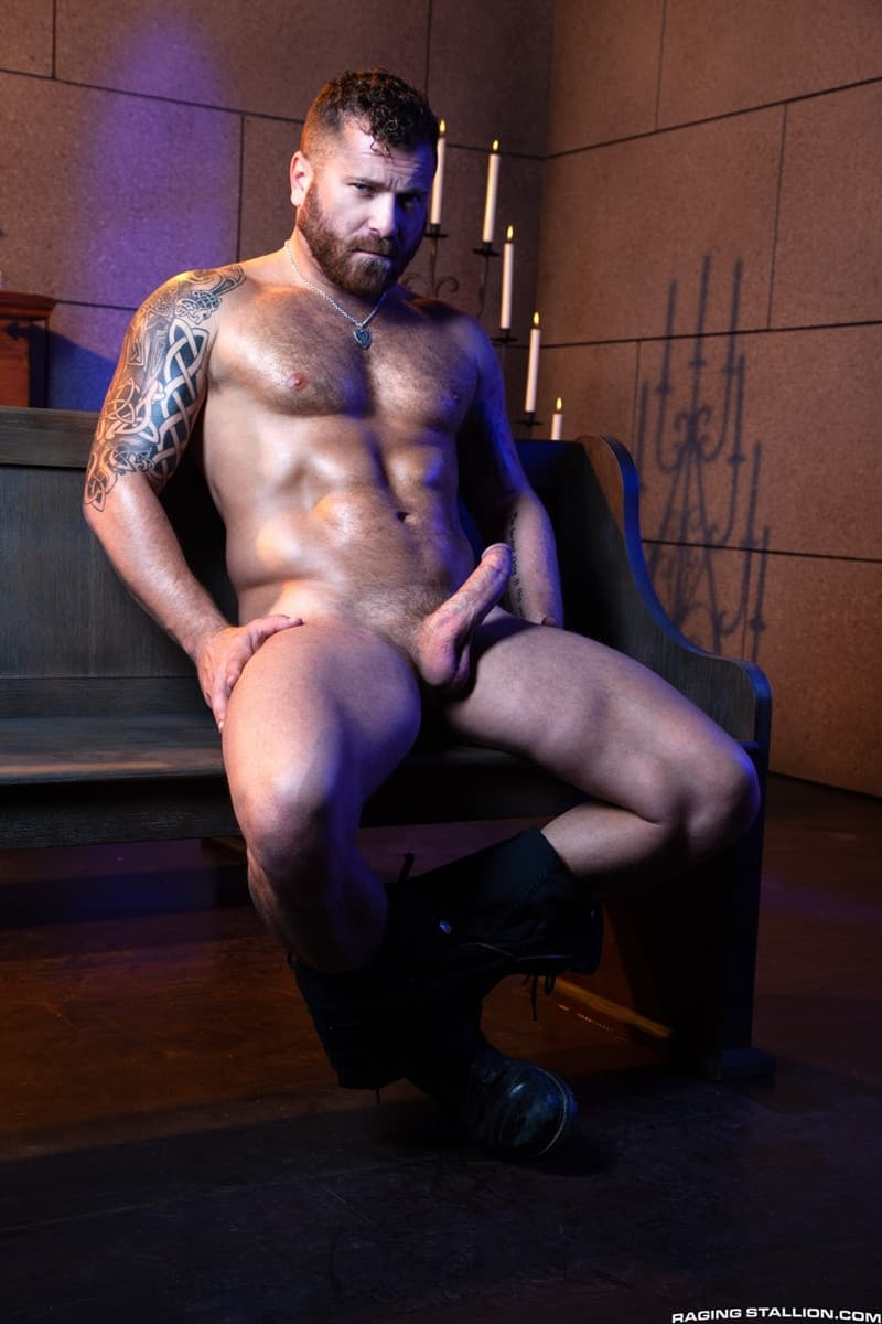 Men for Men Blog Gay-Porn-Pics-007-Father-Woody-Fox-Riley-Mitchel-huge-cock-fucks-hot-muscle-ass-anal-rimjob-RagingStallion Father Woody Fox's huge cock fucks Riley Mitchel's hot muscle ass Raging Stallion