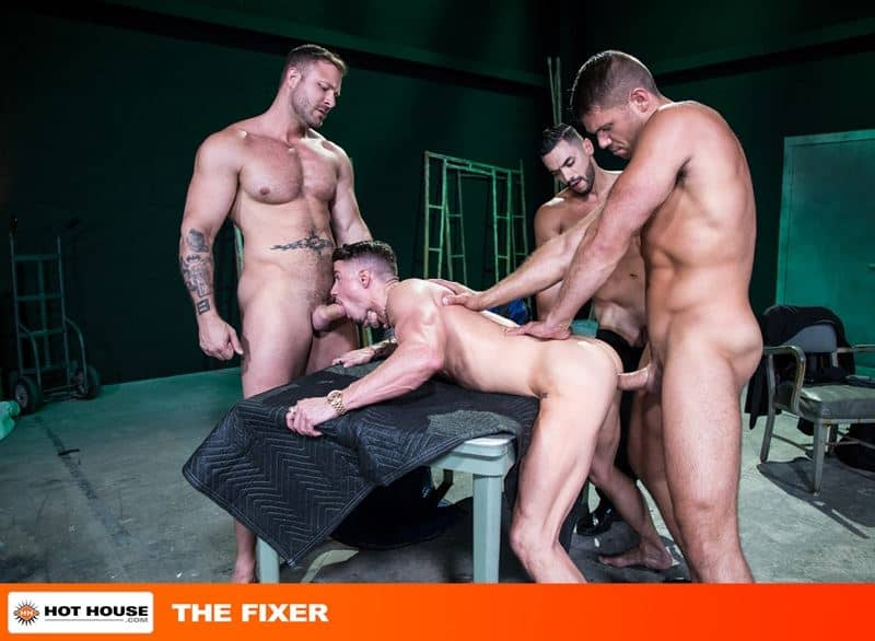 Hardcore gay anal sex foursome with Austin Wolf, Arad Winwin, Skyy Knox and Tyler Roberts