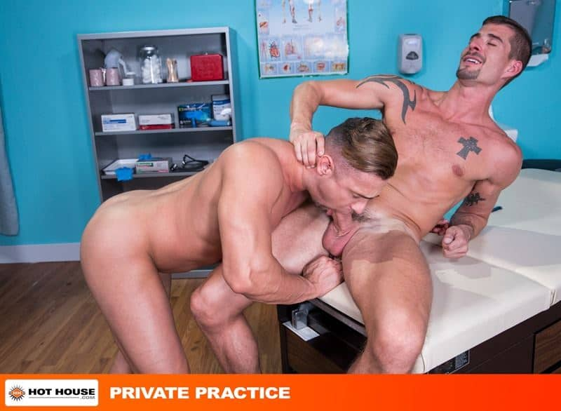 Ripped muscle dude Josh Conners' hot asshole fucked hard by Sean Maygers' huge erect dick