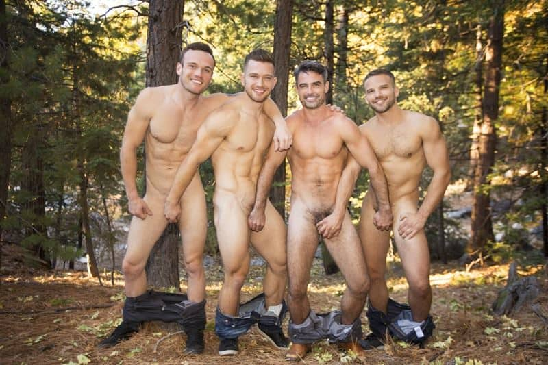 Sean Cody foursome Deacon, Daniel, Sean and Jackson's big raw dick bareback orgy
