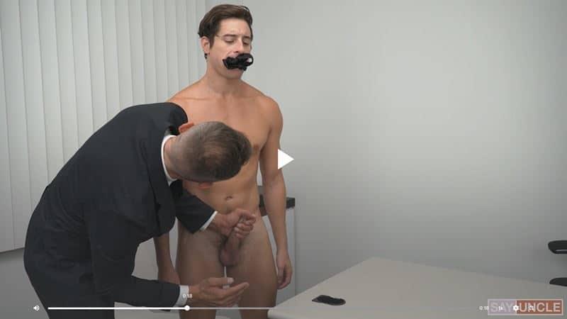 Missionary President Trent Summers's huge veiny cock raw fucks Elder Taylor Reign's hot boy hole