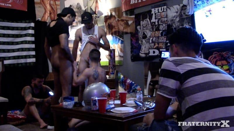 No show two holes bitch fucked young pledge at Fraternity X