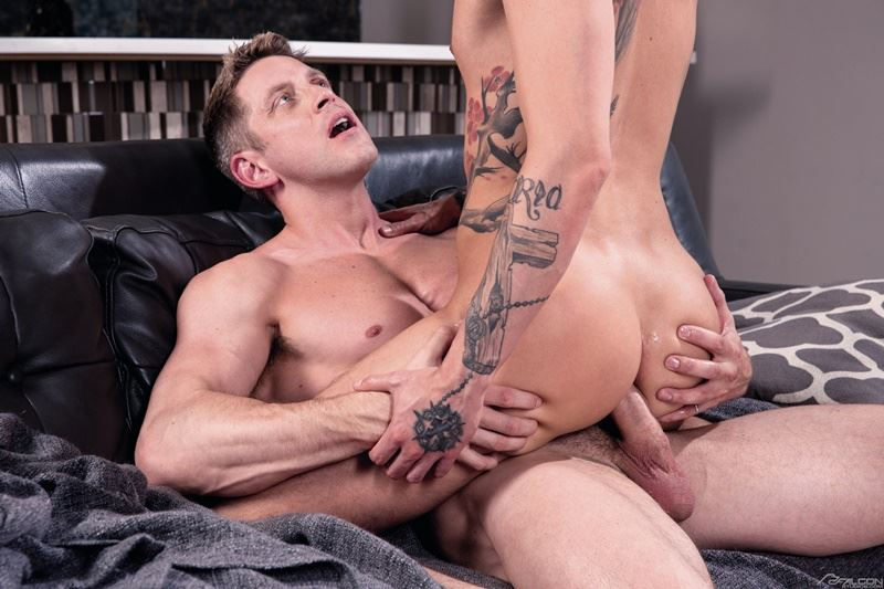 Raging Stallion sexy hot stud Vincent OReilly's tight asshole bare fucked by horny hunk Johnny Ford's huge thick cock